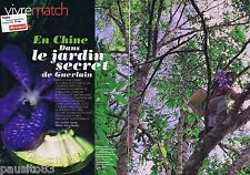 COUPURE DE PRESSE CLIPPING 2011 En Chine,le jardin secret de GUERLAIN (5 pages)