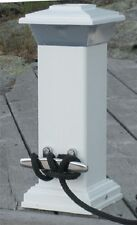"""New Solar Dock Light With Stainless Steel Cleat dock Edge 96-250-f 4"""" W x 4"""" D x"""
