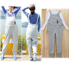 NEW MATERNITY PANTS TROUSERS OVERALLS DUNGAREES COTTON CUTE COMFY CLASSIC 1266