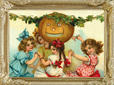 HALLOWEEN Dollhouse Picture - Framed Miniature Art - MADE IN AMERICA