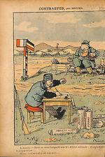 Caricature Politique Petit Père Combes Défense Laïque Radical 1913 ILLUSTRATION