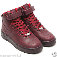 NIKE WOMENS AIR FORCE 1 HI FW QS SHOES SIZE 8 SHANGHAI BURGUNDY FASHION WEEK