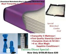 FACTORY DIRECT SALE-QUEEN 98% Waveless Waterbed Mattress+Stand-Up Liner-SAVE $30