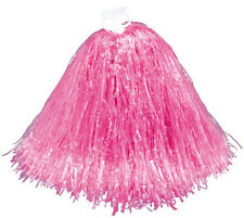Jumbol Pink School Girl Cheerleader Football Basketball Pom Pom Fancy Dress New