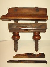 Vintage Country Carpenter Wood Working Vise Tool Primitive Plow Plane