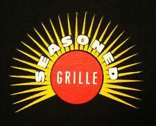 SEASONED GRILLE lrg T shirt Northfield Village chicken wings tee Ohio yellow sun