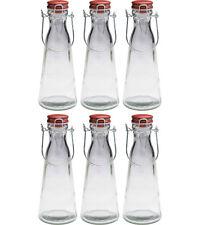 Set of 6 Kilner 1 Litre Vintage Glass Clip Top Handle Storage Bottles 1L Jar