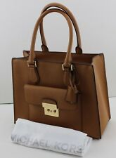 NEW AUTHENTIC MICHAEL KORS BRIDGETTE HANDBAG ACORN BROWN MD EW TOTE WOMEN'S