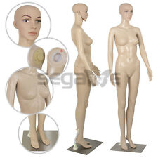 Female Mannequin Full Body Manikin Dress Form Display Metal Base with Wheel