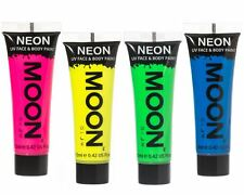 Moon Glow Intense Neon UV Face & Body Paint Festival Rave Party Set of 4 x 12ml