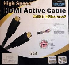 HDMI Active Cable w/ Ethernet -Gold Connectors-(High Quality/High Speed) 75 ft.