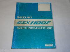 Werkstatthandbuch Suzuki GSX 1100 F / GSX1100F, Stand 10/1987
