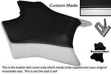 BLACK & WHITE CUSTOM FITS DERBI GPR 50 125 UNDERSEAT EXHAUST 07-13  FRONT COVER