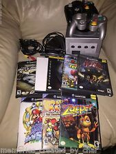 Nintendo GameCube Bundle Memory Card GameBoy Player 8 Games Cords 2 Controllers