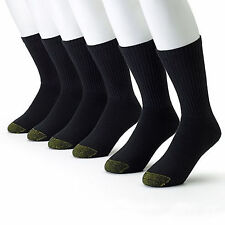 Gold Toe Mens 3 Pairs Athletic Cushioned Crew Socks Extended Size Big and Tall