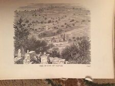 u1-3 ephemera 1890 religious book plate the mount of olives