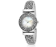 Merona FMD Round Mother of Pearl Dial Bangle Bracelet Cuff Watch NEEDS BATTERY