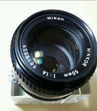 EXCELLENT NIKON NIKOR  AI-S  50MM  1:1.4 MANUAL LENS GOOD CONDITION .