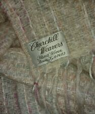 Churchill Weavers Soft Woven Throw Afghan Blanket Pastel Ribbons Mohair Wool