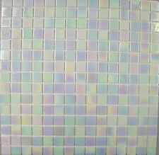 SHEETS OF IRIDESCENT PEARL EFFECT GLASS MOSAICS - 33cm x 33cm x 4mm Thick