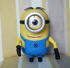 """Minion TALKING one eye  3D 8"""" figure with poseable arms toy rare collectable"""