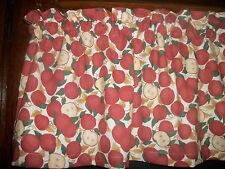 Red Apple Fruit orchard food country farm kitchen cotton fabric curtain Valance