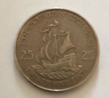 EAST CARIBBEAN STATES 25 CENTS 2002 . CIRCULATED