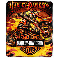 Harley Davidson Sunset Soft Mink Style Queen Blanket High Quality