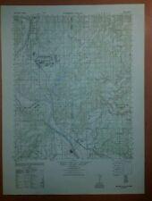 1940's Army Topo map Webbers Falls Oklahoma  Sheet 6955 II