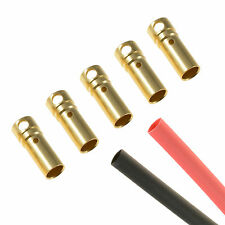 5 x RC 3.5mm Female Gold Bullet Connector + Heat Shrink Lipo Battery ESC Motor