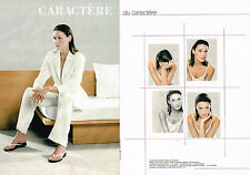 PUBLICITE ADVERTISING 045  1999  CARACTERE  mode pret à porter ( 2p) CARLA BRUNI