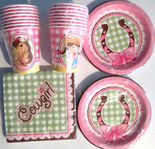 COWGIRL 1st Birthday Party Supplies Set Pack w/Plates,Napkins,Cups & 1st Invites