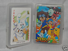 NEW IN  CLEAR PLASTIC BOX DIGIMON   PLAYING CARDS DECK