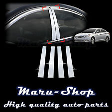 Chrome B-Pillar Post Decal Sticker Trim for 11~14 Hyundai Sonata/i45