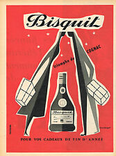 PUBLICITE ADVERTISING 015  1956  BISQUIT  cognac par G. GEORGET