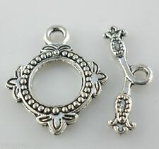 8 Sets Tibetan Silver Clasps Toggle Connectors fit necklace Bracelet