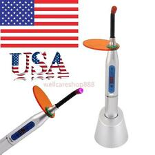 USA Seller Dental 5W Wireless Cordless LED Curing Light Lamp 1500mw Silver Lab