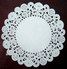 Lacy Paper Doilies,Pack 100 x Round Disposable Doily,Small 5 inch White Doiley