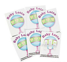 BABY SHOWER GAME 48 BABY LOTTO SCRATCH OFF TICKETS PICKLE CARD PARTY FAVORS NEW