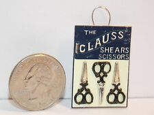 Dollhouse Miniature Sewing Shop Scissors Hanging Display B 1:12  one inch A18
