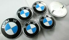 BMW WHEEL CAPS 68MM AND PAIR 74MM + 82MM BADGES E83 X3 SERIES CARS