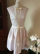 Ted Baker Bnwot Pink/cream Bow Detail Dress Jacquard 2/10 Wedding/races New