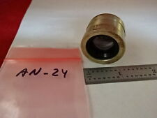 MICROSCOPE PART MOUNTED LENS OPTICS AS IS #AN-24