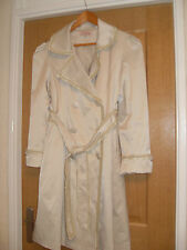 Pretty Frill Mac Coat belted neutral bust 38 inches length 39 inches STYLISHWEAR