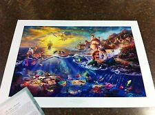 "Thomas Kinkade ""The Little Mermaid "" Signed & Numbered Disney Lithograph"