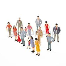 100 MODEL RAILWAY TRAIN Scenery MIXED FIGURE PEOPLE STANDING SITTING N Scale