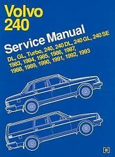 Volvo 240 Service Manual 1983 Through 1993 by Bently Robert (1993, Paperback)