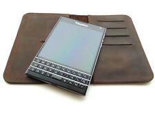 Genuine Leather Wallet Case for BlackBerry Passport Q30 (exclusive hand made)