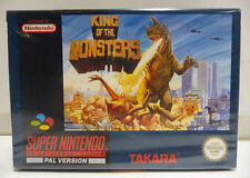 KING OF THE MONSTERS - SUPER NINTENDO PAL SNES PAL RARE BOXED