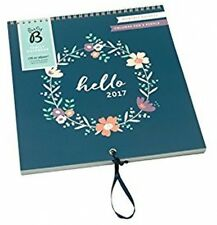 Busy B 2017 Wreath Design Family Calendar - Navy/Green/Cream